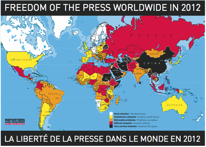 freedom of the press map